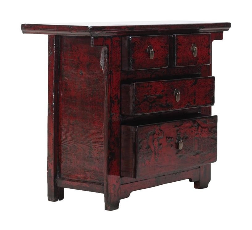 C.S. Wo & Sons Antiques3 Drawer Cabinet