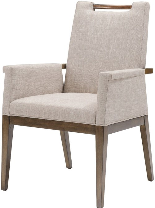 Belle Meade Signature Accent Chairs Liv Upholstered Arm Chair with Exposed Wood