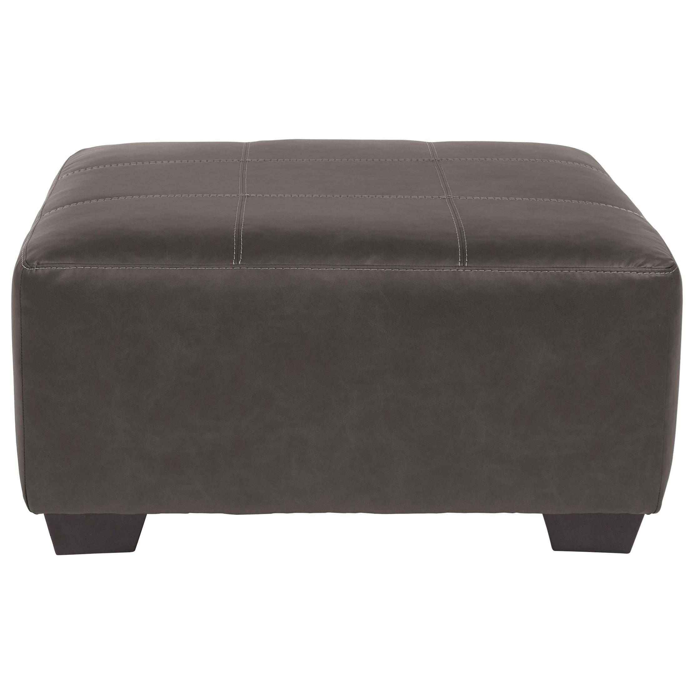 Square Faux Leather Oversized Accent Ottoman