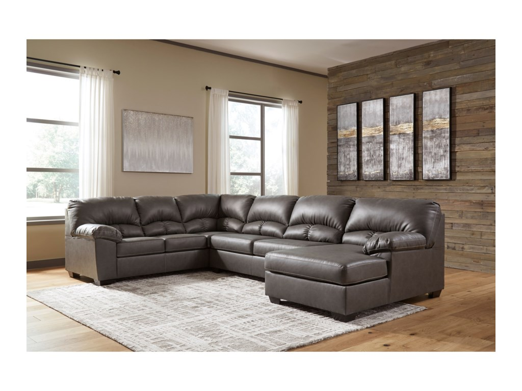 Signature Design By Ashley Aberton3-Piece Sectional with Chaise