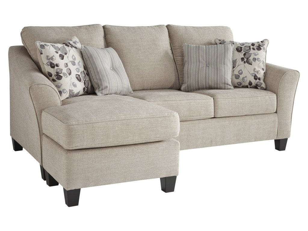 Abney Sofa Chaise with Flared Track Arms by Benchcraft at Darvin Furniture