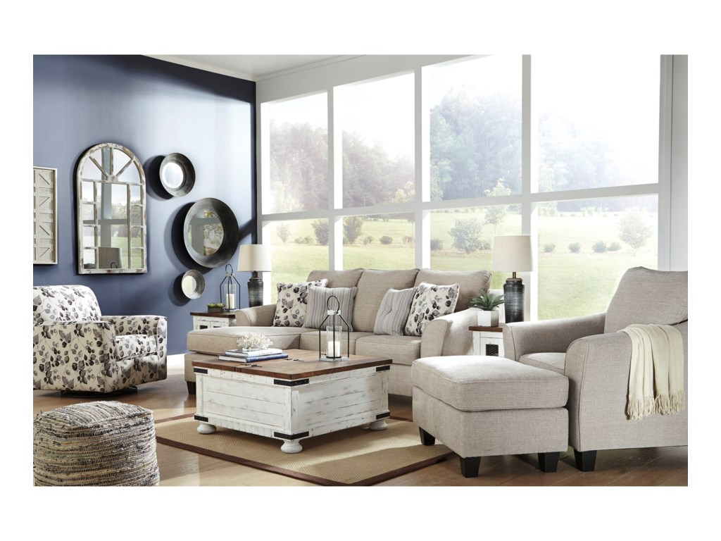 Signature Design By Ashley AbneyChair and Ottoman