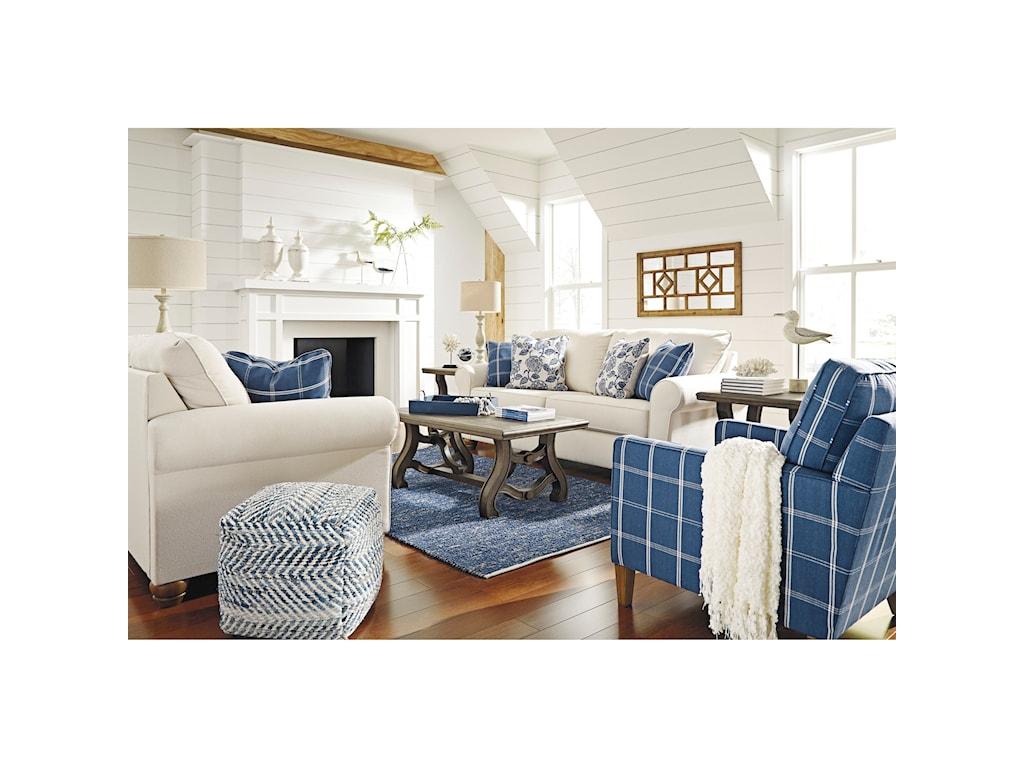 Benchcraft by Ashley Adderbury Stationary Living Room Group | Royal ...