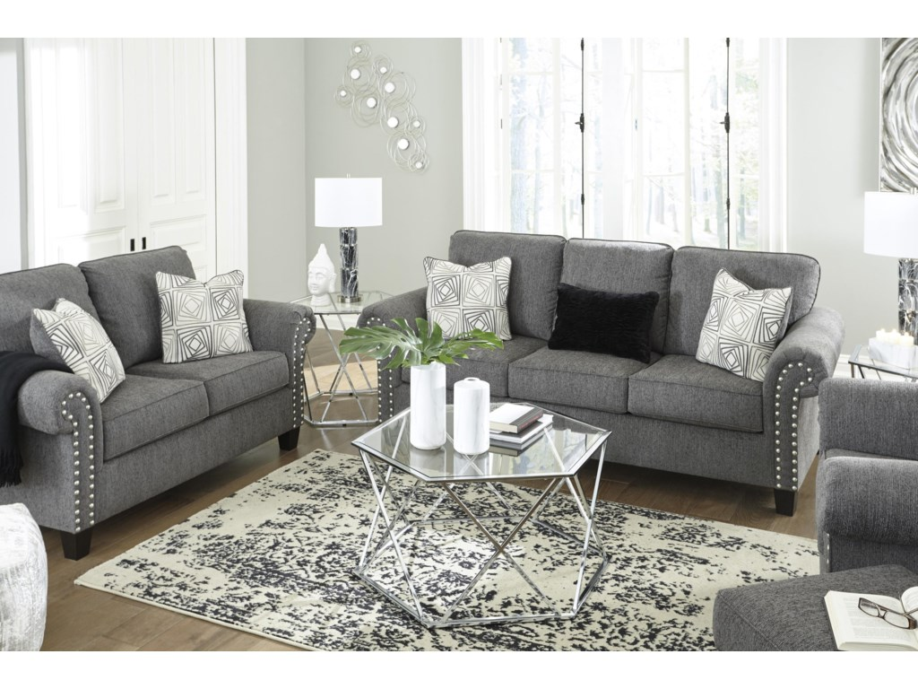 Benchcraft AglenoSofa, Loveseat and Chair Set