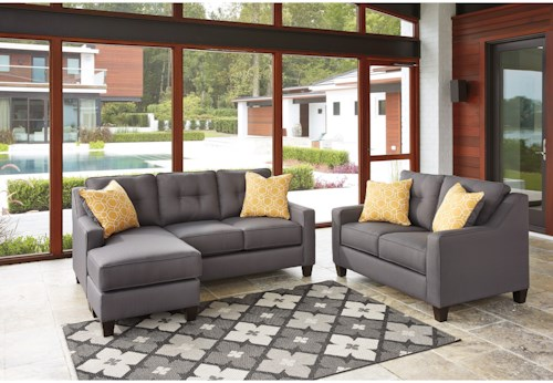 Benchcraft Aldie Nuvella Stationary Living Room Group