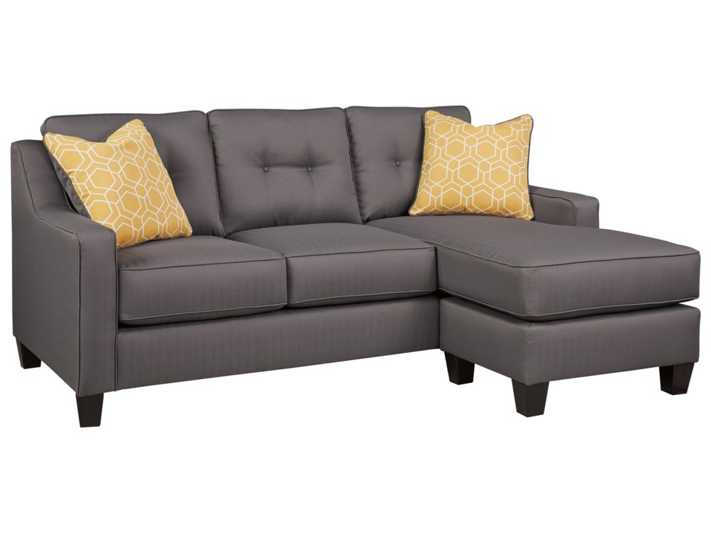 Aldie Nuvella Contemporary Sofa Chaise in Performance Fabric by Benchcraft  by Ashley at Royal Furniture