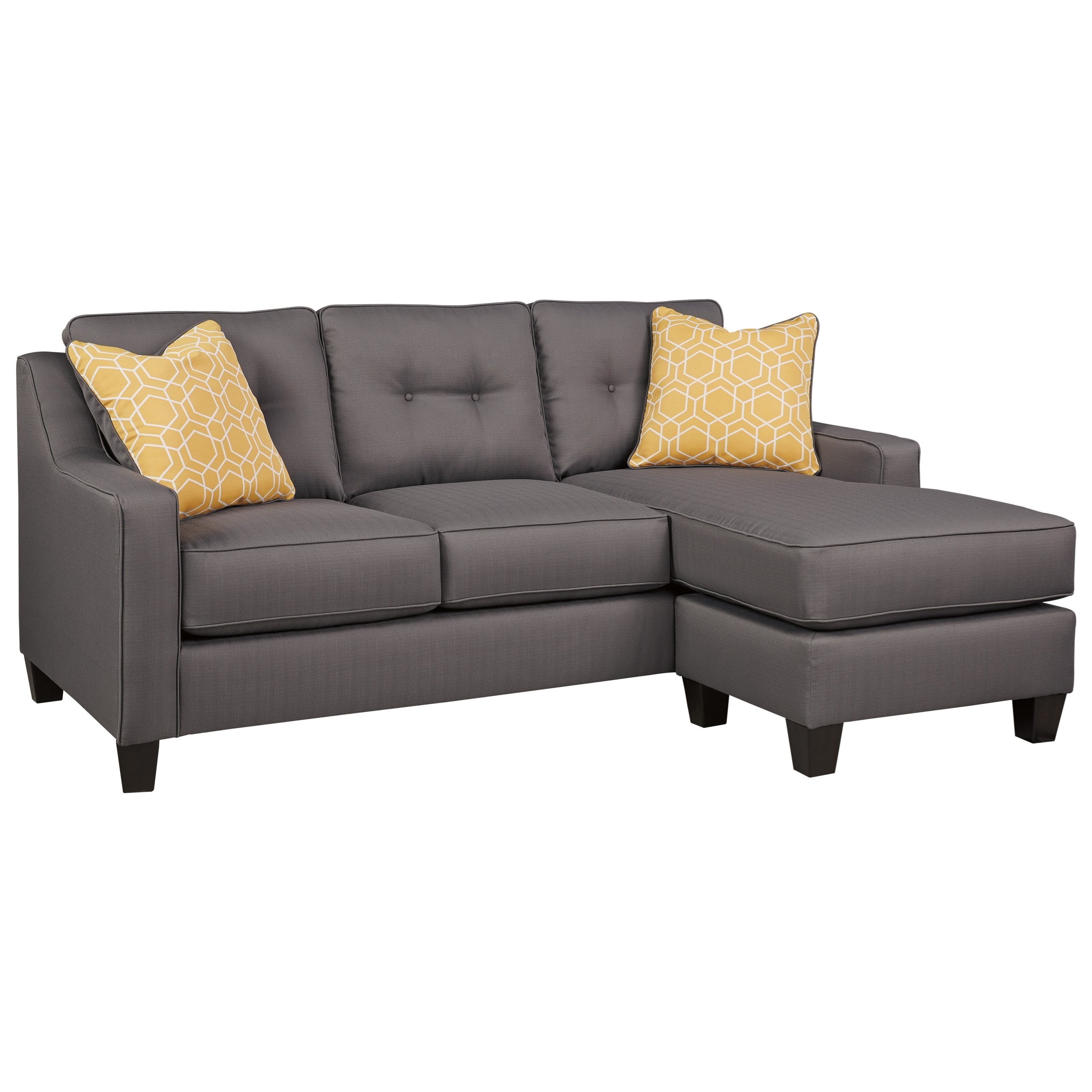 Beau JB King Adele Contemporary Sofa Chaise In Performance Fabric