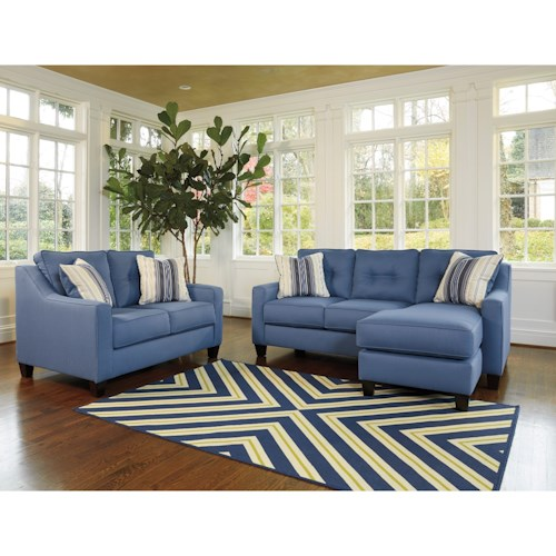 Benchcraft by Ashley Aldie Nuvella Stationary Living Room Group