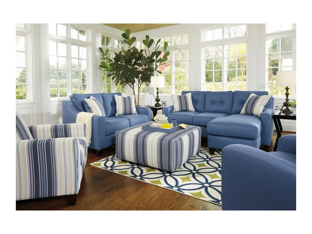 Benchcraft Aldie NuvellaStationary Living Room Group