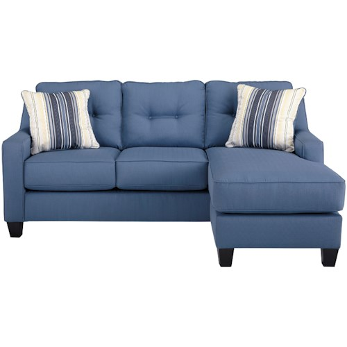 Benchcraft Aldie Nuvella Contemporary Sofa Chaise in Performance Fabric
