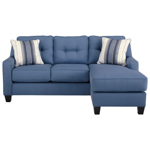 Benchcraft Al Nuvella Queen Sofa Chaise Sleeper in Performance