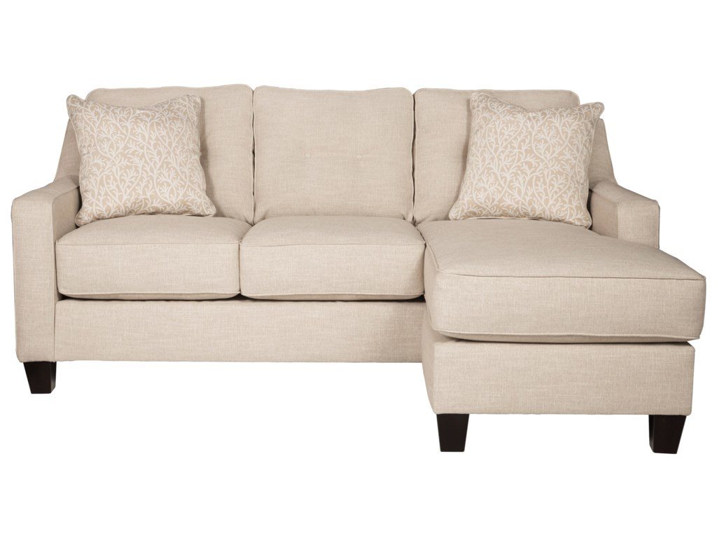 Aldie Nuvella Queen Sofa Chaise Sleeper in Performance Fabric by Benchcraft  at Household Furniture