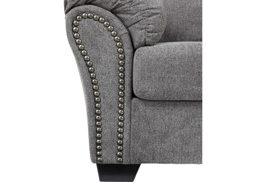 Fine Benchcraft Allmaxx Loveseat With Pillow Arms And Nailhead Alphanode Cool Chair Designs And Ideas Alphanodeonline