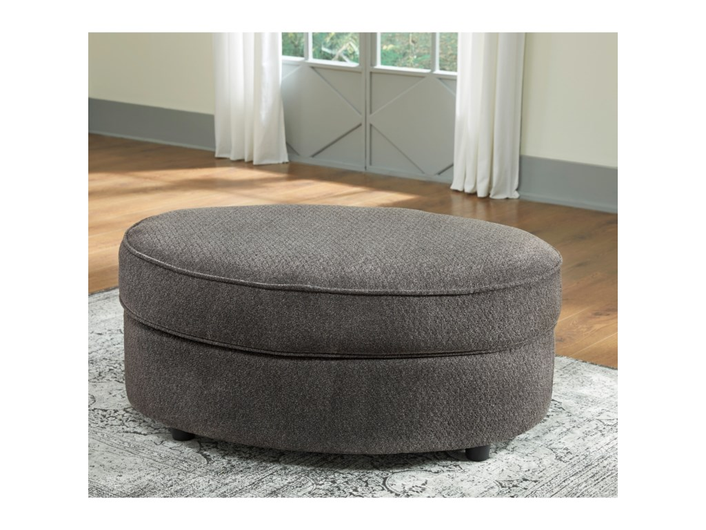 benchcraft by ashley allouette chair and a half oval ottoman in