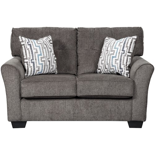 Benchcraft Alsen Contemporary Loveseat with Tufted Back