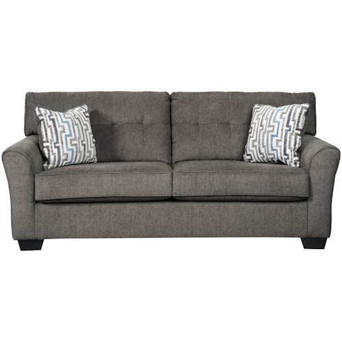Benchcraft Alsen Contemporary Sofa with Tufted Back
