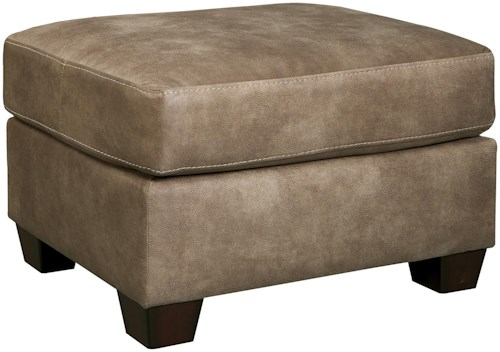 Benchcraft Alturo Contemporary Faux Leather Ottoman