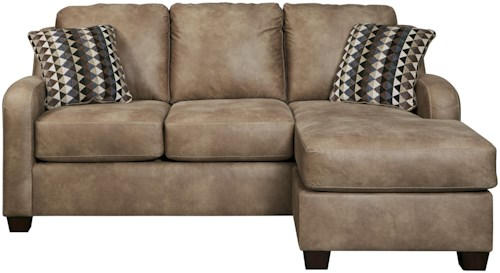 Benchcraft Alturo Contemporary Faux Leather Sofa Chaise