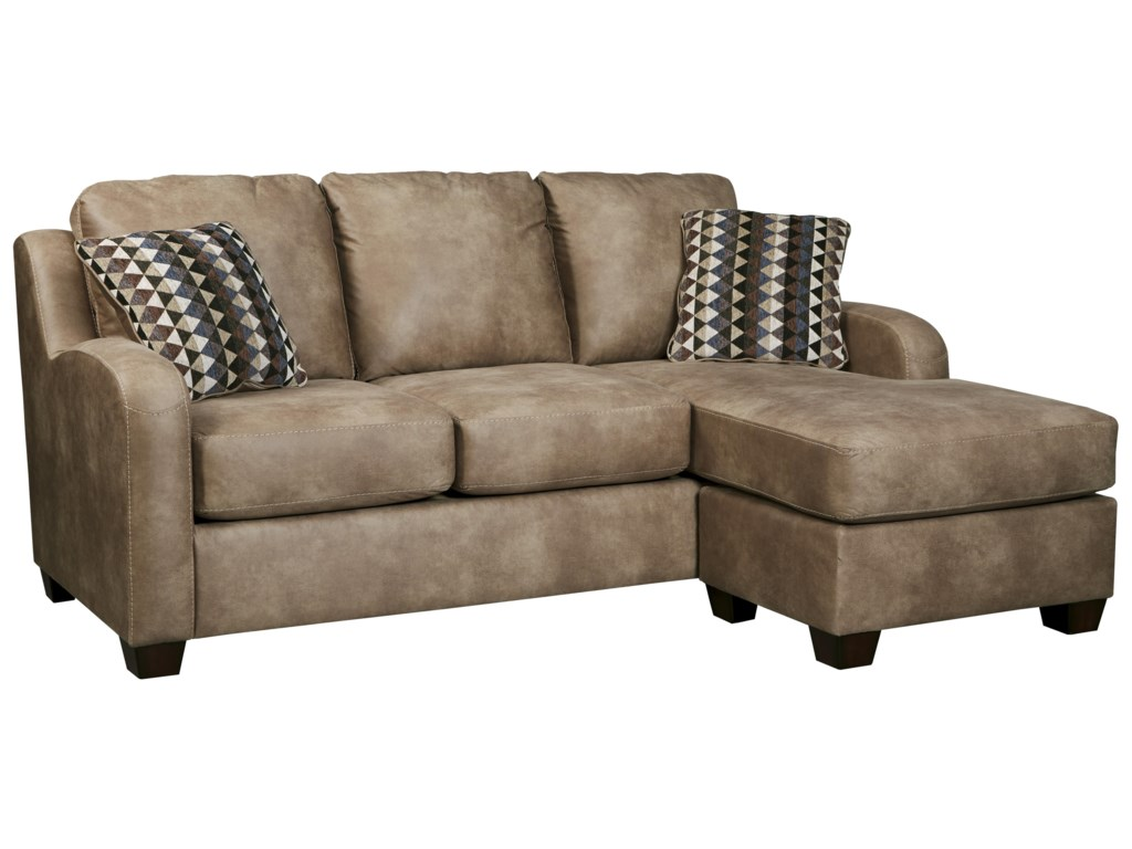 Benchcraft Alturo 6000318 Contemporary Faux Leather Sofa Chaise