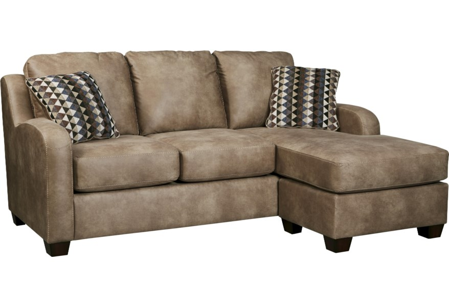 Alturo Contemporary Faux Leather Sofa Chaise by Benchcraft at Dunk & Bright  Furniture
