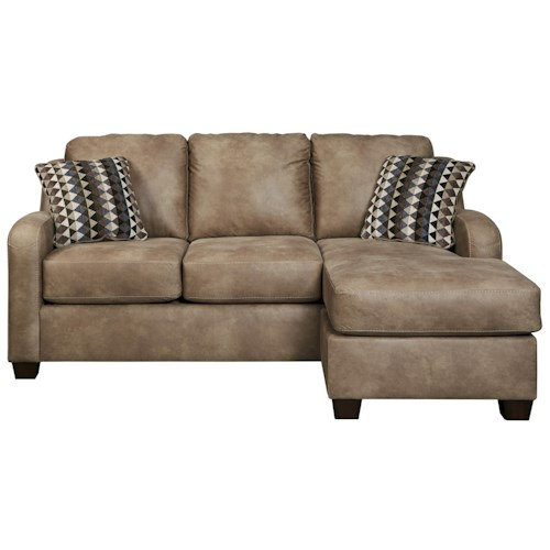 Benchcraft Alturo Queen Sofa Chaise Sleeper with Memory Foam Mattress