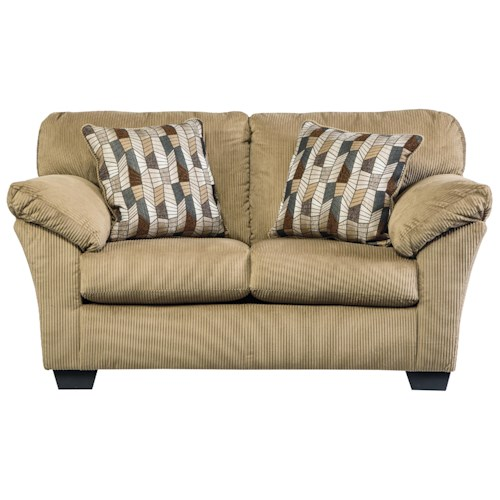 Benchcraft Aluria Casual Contemporary Loveseat with Corded Upholstery