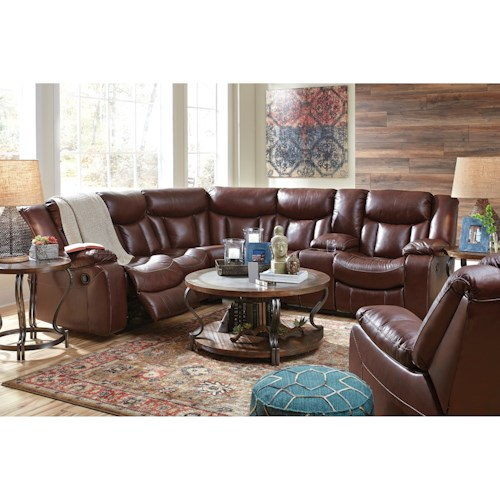 Benchcraft Amaroo Reclining Living Room Group