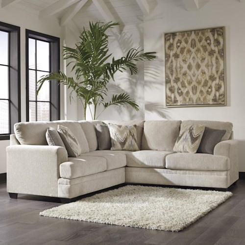 Benchcraft Ameer Contemporary 2-Piece Sectional