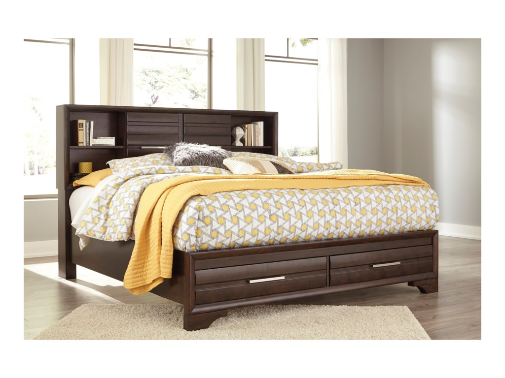 Benchcraft AndrielQueen Bookcase Storage Bed