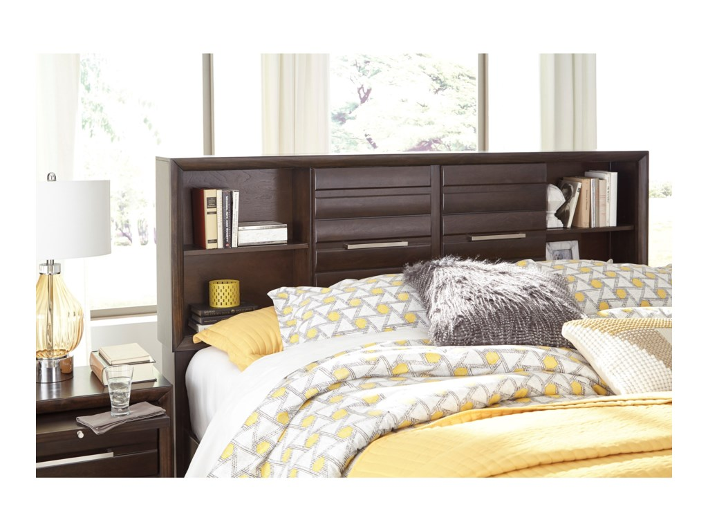 Signature Design By Ashley AndrielQueen Bookcase Storage Bed