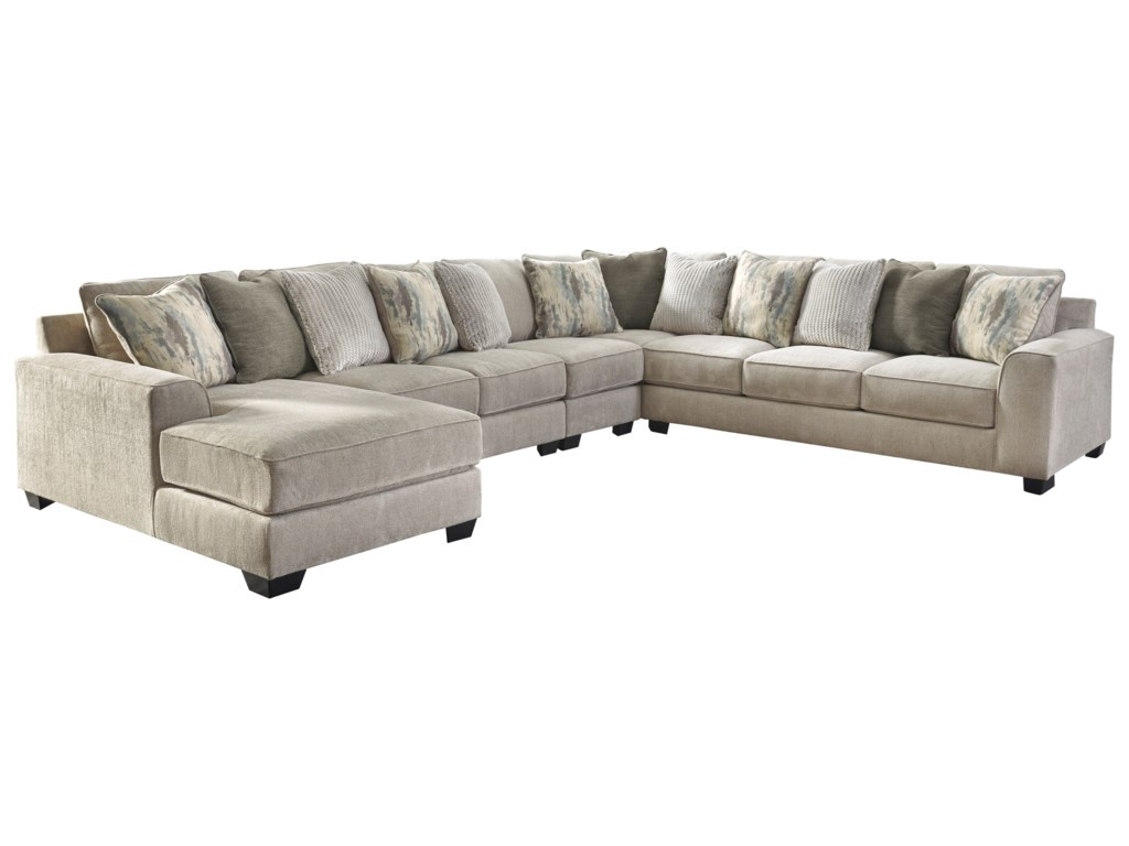 Benchcraft Ardsley5-Piece Sectional with Left Chaise