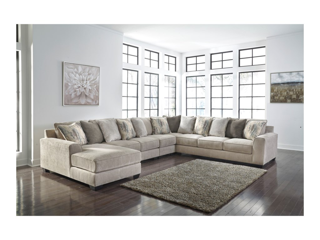 Benchcraft by Ashley Ardsley5-Piece Sectional with Left Chaise