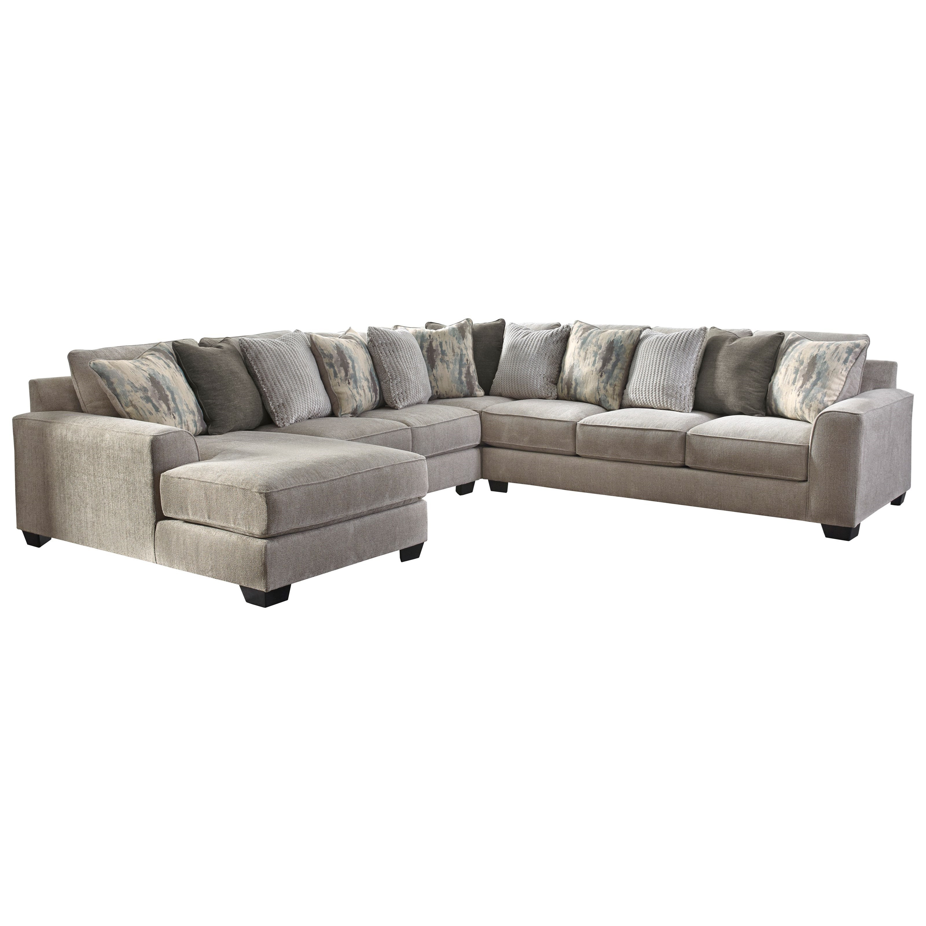 Benchcraft By Ashley Ardsley Contemporary 4 Piece Sectional With Left Chaise Royal Furniture Sectional Sofas