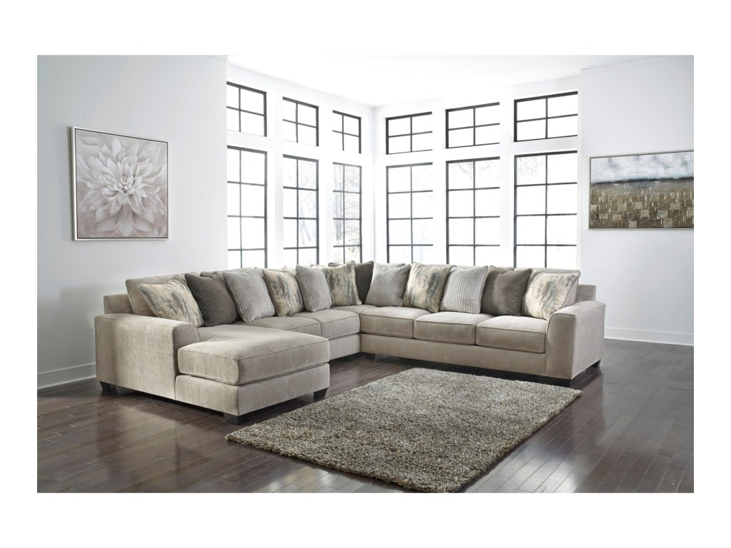 Benchcraft by Ashley Ardsley4-Piece Sectional with Left Chaise