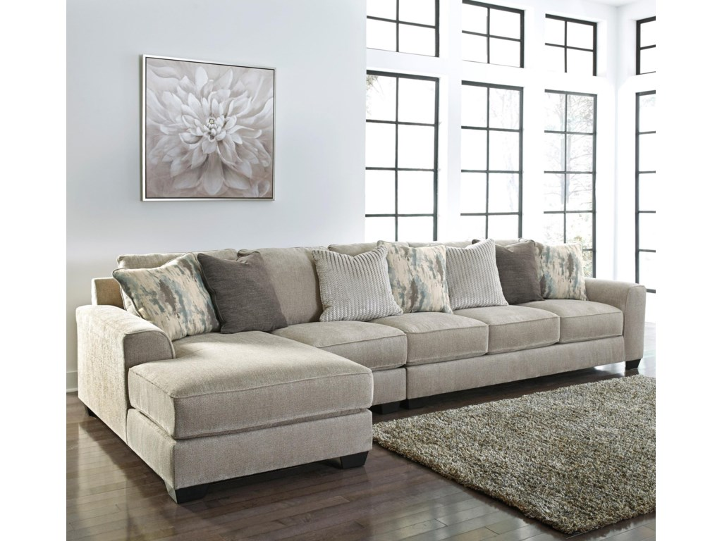 Benchcraft Ardsley3-Piece Sectional with Left Chaise