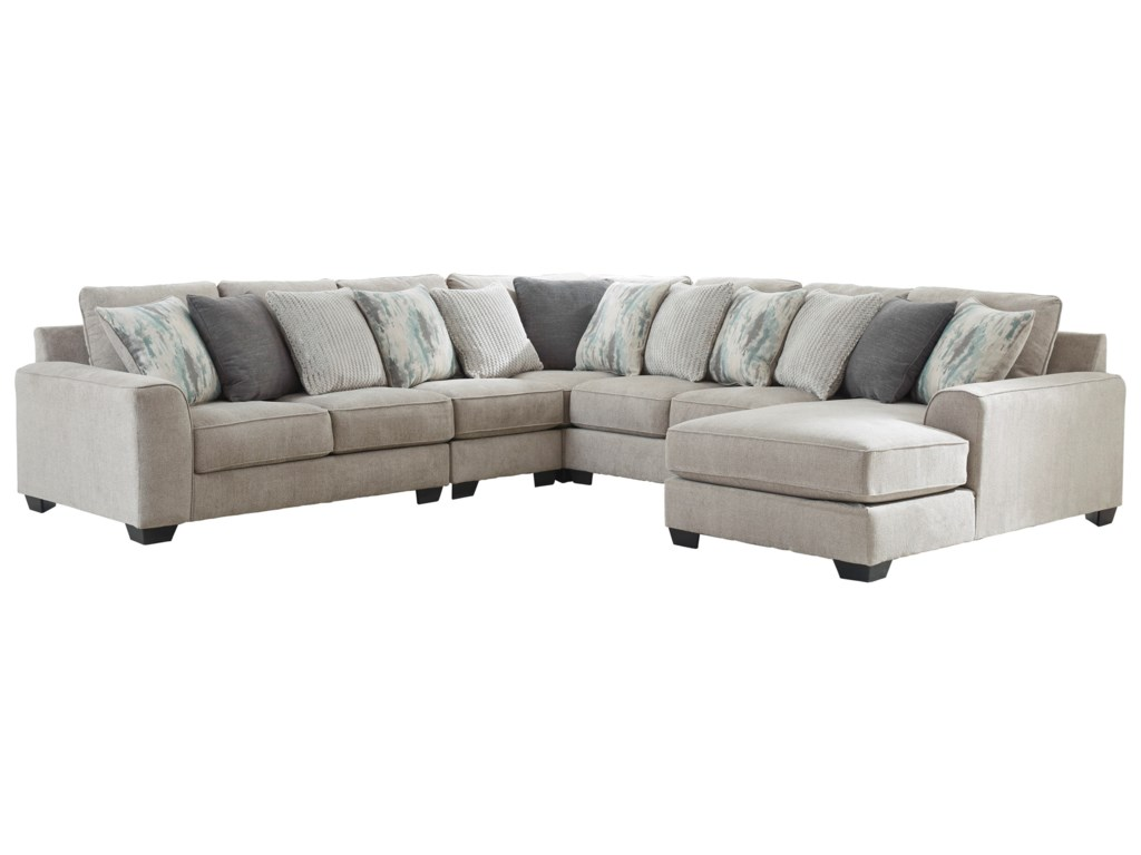 Benchcraft Ardsley5-Piece Sectional with Right Chaise