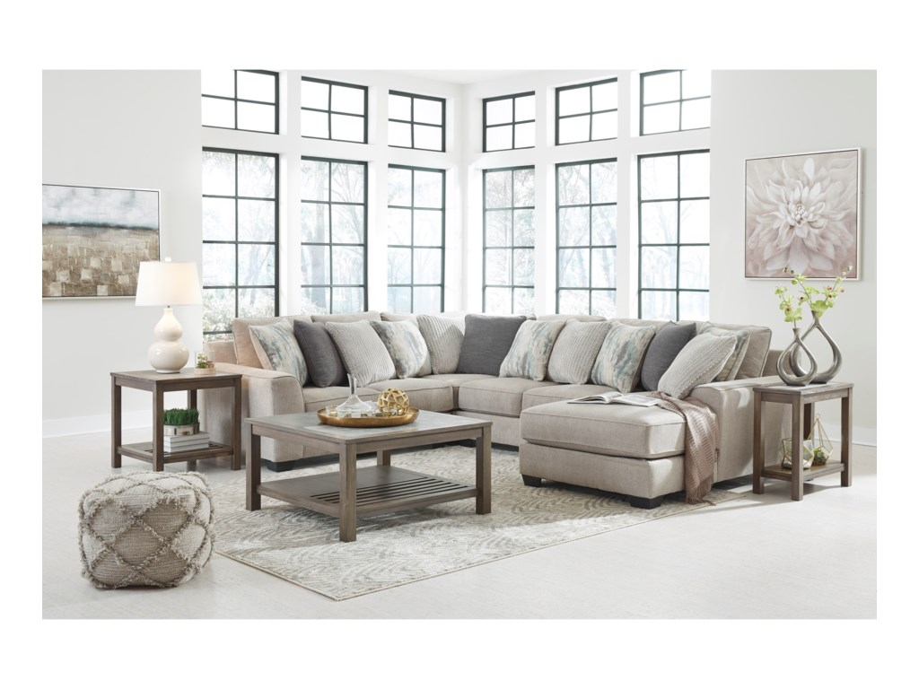 Benchcraft by Ashley Ardsley4-Piece Sectional with Right Chaise