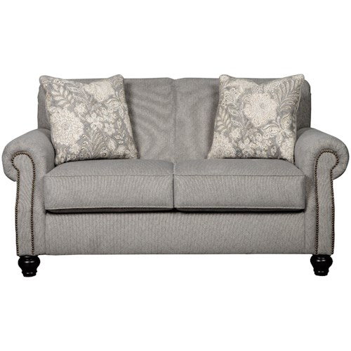 Benchcraft Avelynne Loveseat with Rolled Arms