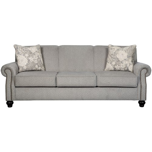 Benchcraft Avelynne Sofa with Rolled Arms