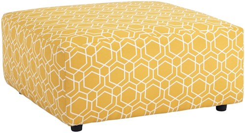 Benchcraft Ayanna Nuvella Oversized Accent Ottoman in Performance Fabric