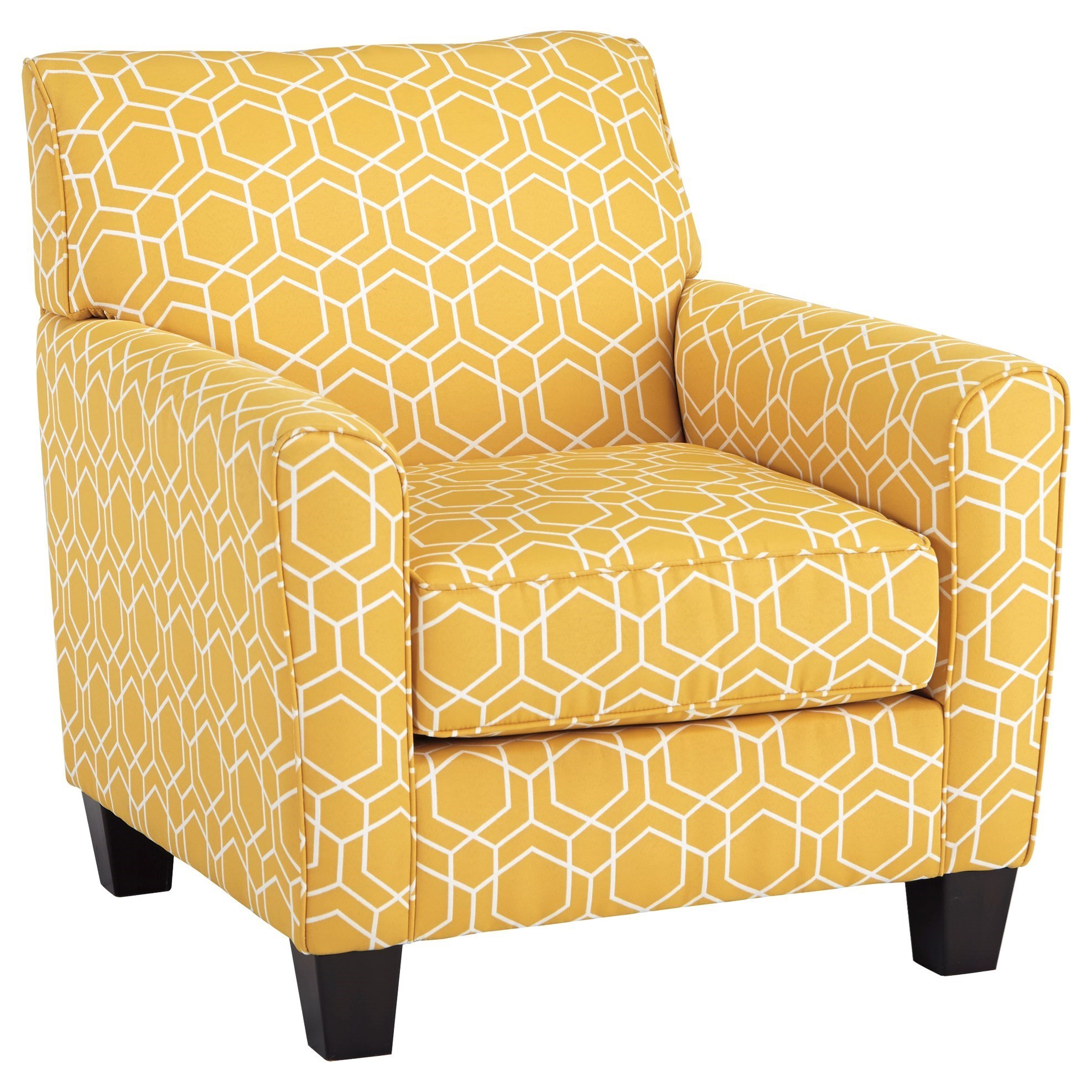 benchcraft ayanna nuvella accent chair in performance fabric