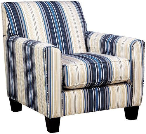 Benchcraft Ayanna Nuvella Contemporary Accent Chair in Performance Fabric