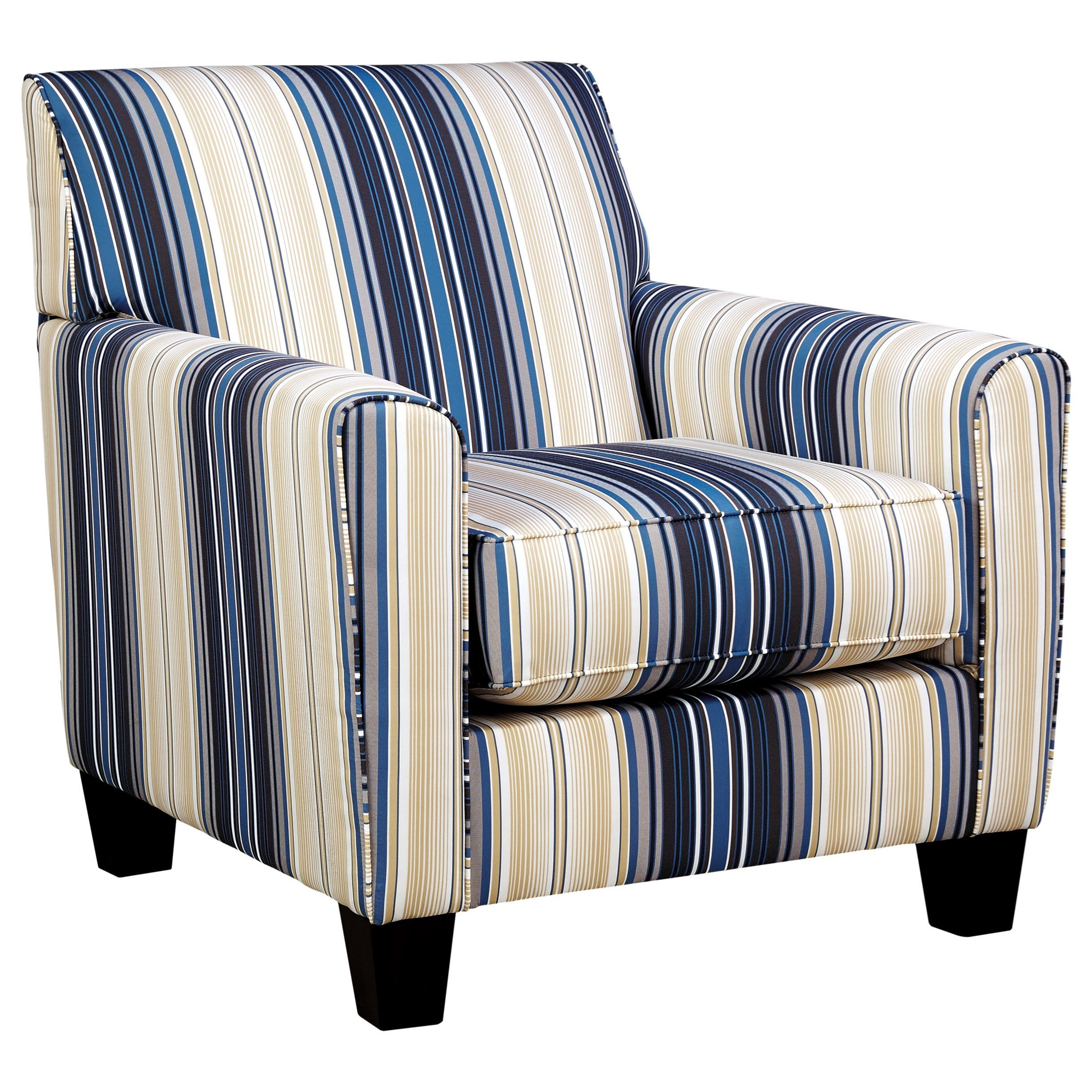 Benchcraft Ayanna Nuvella Contemporary Accent Chair In Performance Fabric    Dunk U0026 Bright Furniture   Upholstered Chairs