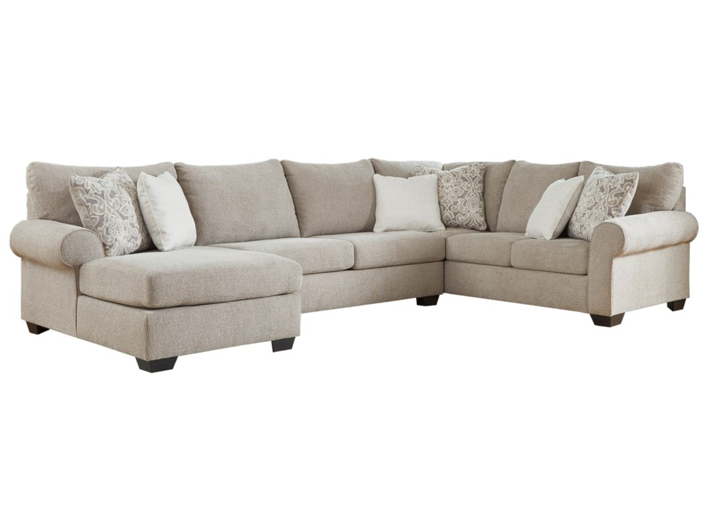 Benchcraft by Ashley Baranello3-Piece Sectional with Left Chaise