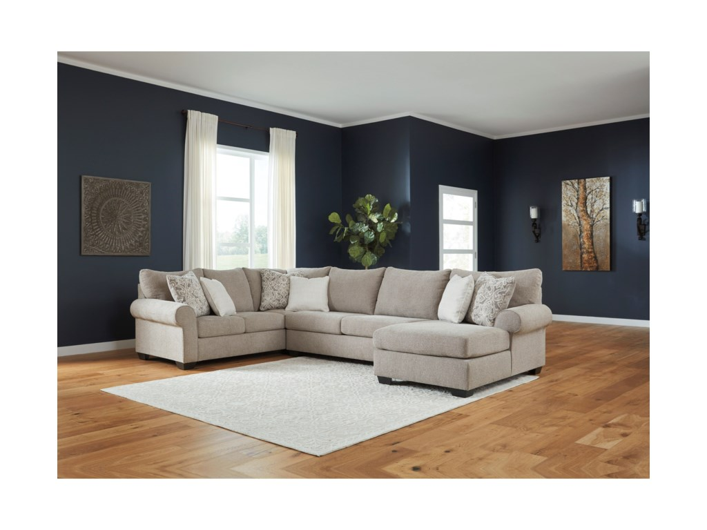 Benchcraft Baranello3-Piece Sectional with Right Chaise