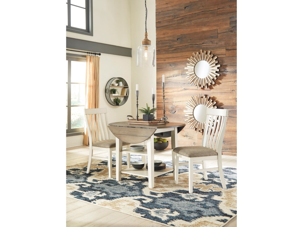 Benchcraft Bardilyn3-Piece Two-Tone Drop Leaf Table Set
