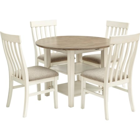 5-Piece Drop Leaf Table Set