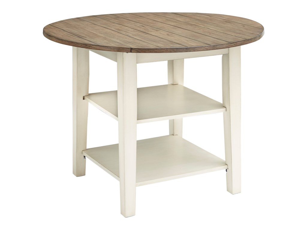Benchcraft BardilynRound Dining Room Drop Leaf Table