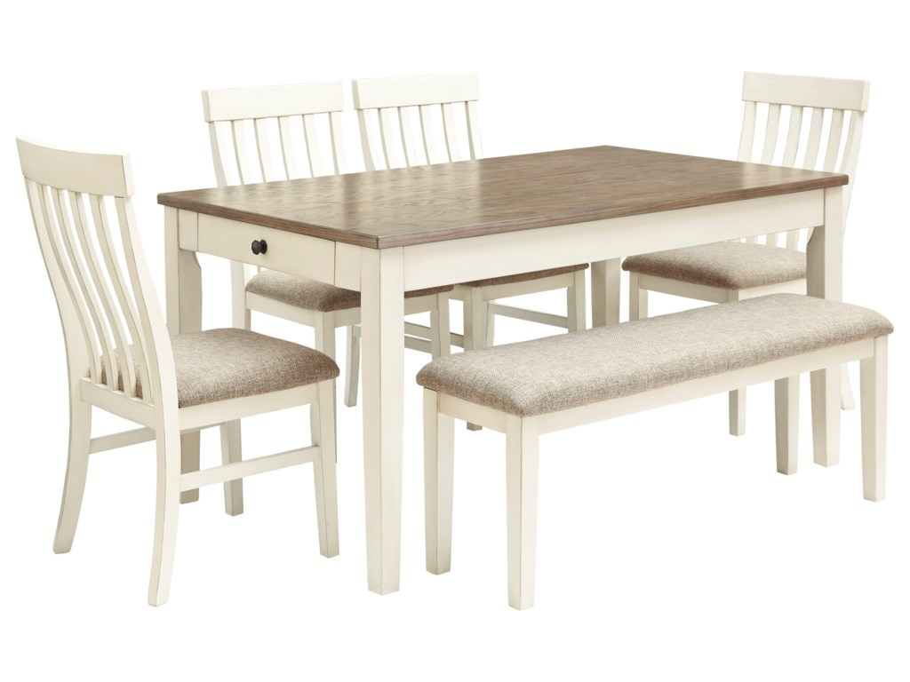 Bardilyn 6-Piece Dining Table Set w/ Bench