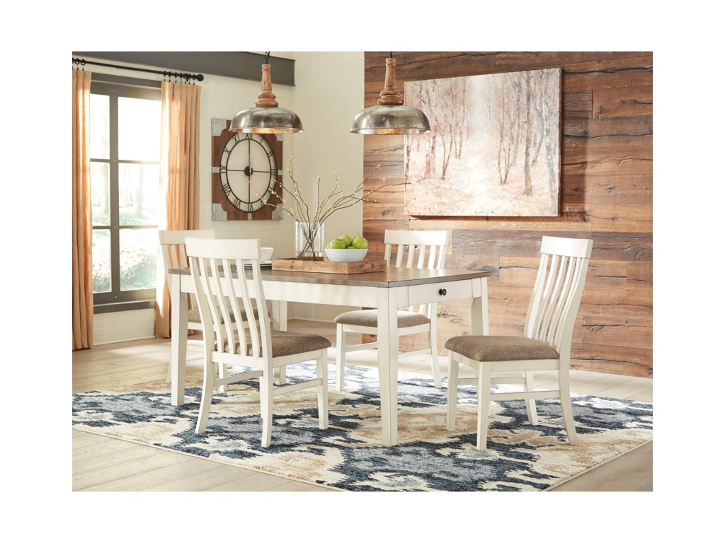 Benchcraft by Ashley Bardilyn5-Piece Rectangular Dining Table Set